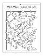 Math Maze Finding The Sum Standards Met Defining Numbers Following Directions Maze Activity Sheet Printable Activity Sheets 2nd Grade Math Math Maze Worksheets Math Maze Worksheetworks Free Worksheet