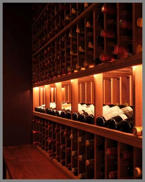 Wine Cellar Lighting  Wooden Wine Racks