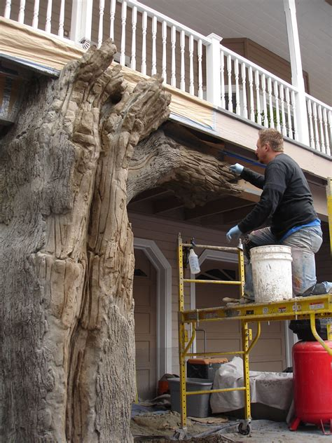 creating  tree   residential home concrete decor