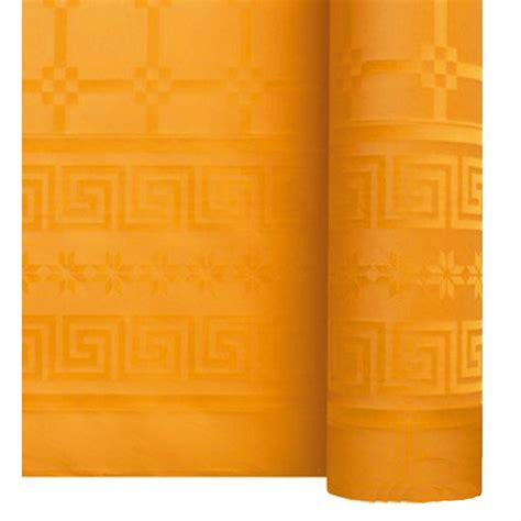nappe papier damass 233 unie orange achat vente d 233 co de table pas cher