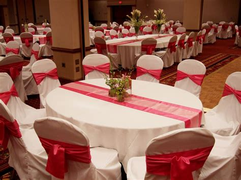 extensive white decorating table for red and white wedding decorations wedding decoration