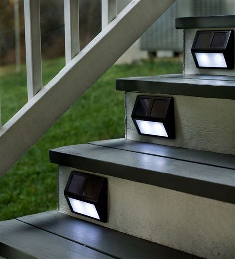 solar step lighting patio