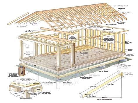 12x12 Shed Plans With Loft by Shed Roof Cabin With Loft 12x16 Cabin With Loft Plans