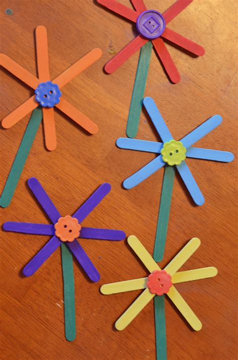craft stick projects for preschoolers easy flower craft stick craft for 816