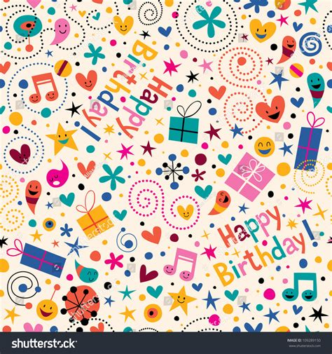 happy birthday pattern stock vector illustration 109289150