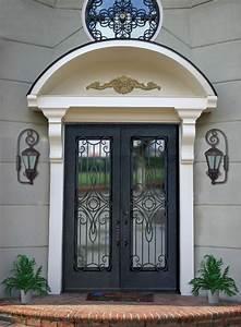 installation thermique portes d39entree vitrees fer forge With porte d entrée en fer