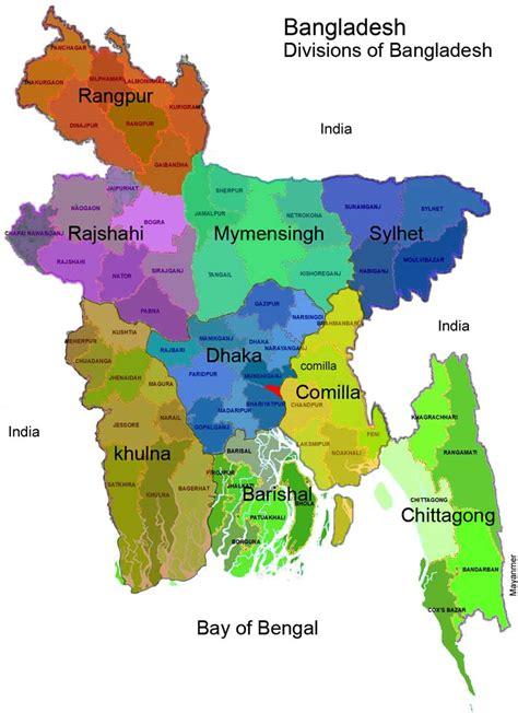 map  bangladesh divisions  districts maps