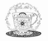 Coloring Starbucks Pages Coffee Cup Printable Adult Print Sunshine Drawing Patterns Cups Books Sheets Getcolorings Pattern Getdrawings sketch template