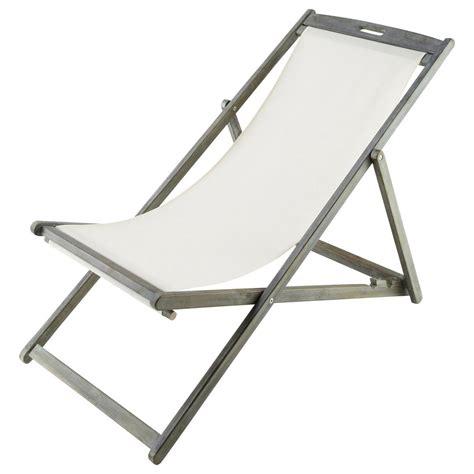 chaise longue chilienne pliante en acacia grisee