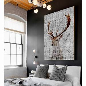 highlands stag, canvas art by palm valley