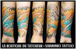 Tatouage Japonais Bras : tatouage japonais pivoine sur avant bras sebaninho tattoo ~ Melissatoandfro.com Idées de Décoration