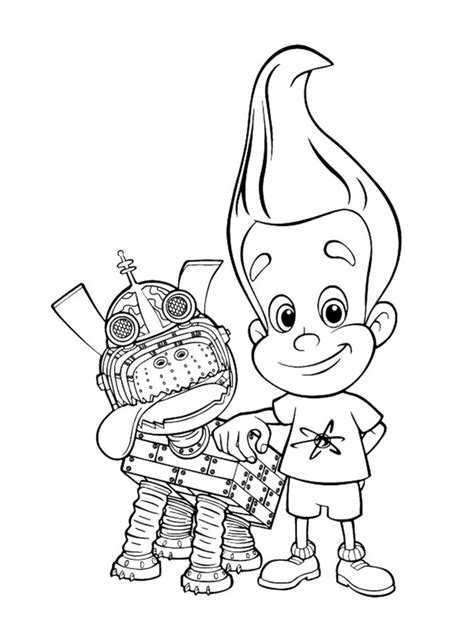 coloring pages coloring pages jimmy neutron printable  kids adults
