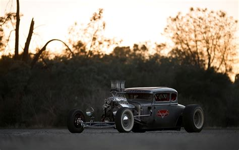 Ford Model A Coupe Hot Rod Rat Rod Hd Wallpaper