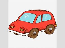 الكرتون سيارة, كرتون, رسمت باليد, طفلPNG صورة للتحميل مجانا