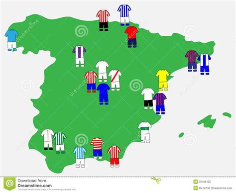 Spanish League Clubs Map 2013-14 Stock Vector ...