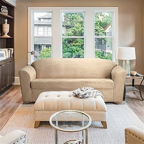 furniture skins slipcovers furnitureskins stretch suede sofa and loveseat 1140
