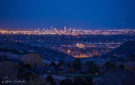 denver colorado night skyline