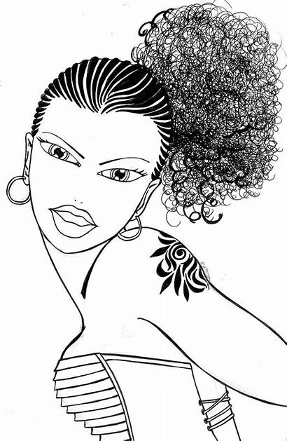 Coloring Pages African American Afro Hair Adult