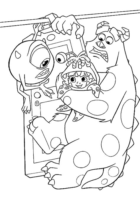 kids n fun com 25 coloring pages of monsters inc