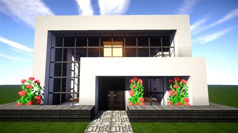 Minecraft Modernes Haus Mit Wasserfall Bauen 14x12