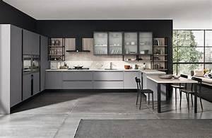 Cucine moderne grigie 22 modelli delle migliori marche for Cucina moderna grigia