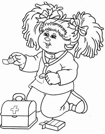 Cabbage Patch Coloring Pages Doctor Colouring Dolls