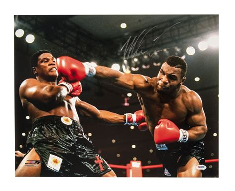 lot detail lot   mike tyson signed