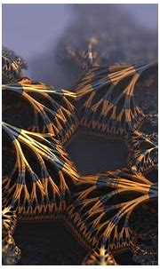 3D Fractal, Fractal, Gold, Black, Abstract Wallpapers HD ...