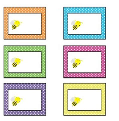 preschool name tag crafts and worksheets for preschool 981 | bee label 295x300