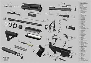 Lower Parts Ar 15 Exploded Parts Diagram Name