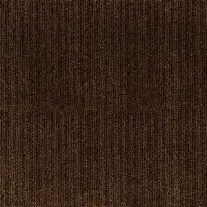 Trafficmaster ribbed brown texture 18 in x 18 in carpet for Brown carpet tiles texture
