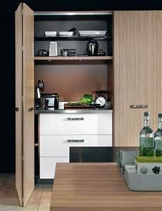 3 scenarios pour amenager une cuisine ilot de cuisine With cuisine cachee par des portes
