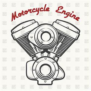 Motorcycle Engine Drawing At Paintingvalley Com