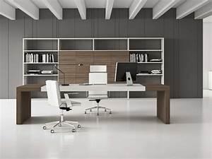 Bureau Contemporain Design : bureau de direction fenni class en cuir ~ Teatrodelosmanantiales.com Idées de Décoration