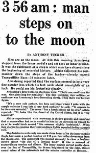 Historic Moon Landing Newspaper - Pics about space