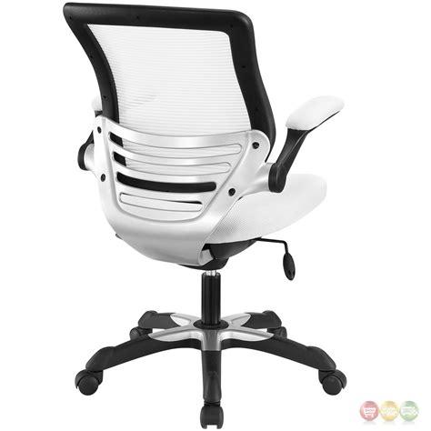 white office chair ergonomic edge modern adjustable ergonomic mesh office chair white
