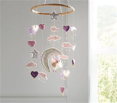 heart and star ceiling mobile pottery barn kids