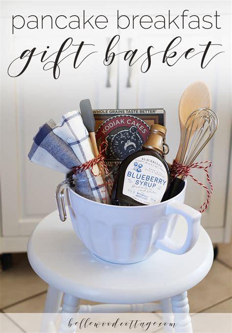 bridal shower gift idea pancake breakfast gift basket