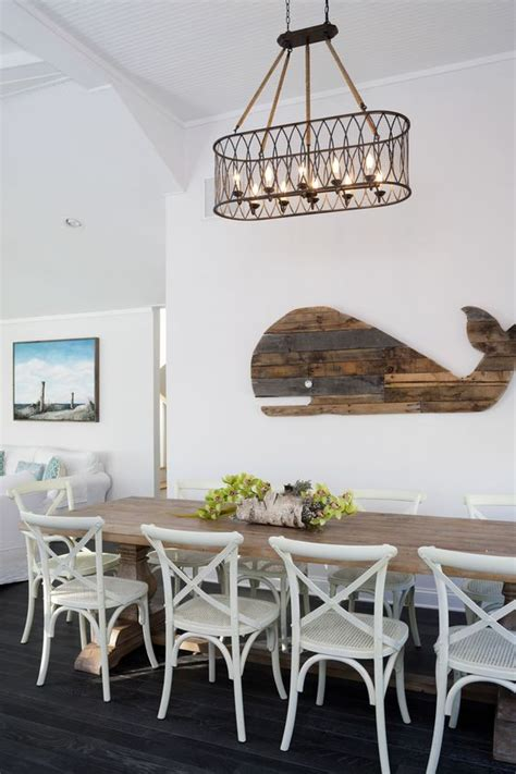 wooden whale wall decor   dining room nautical decor