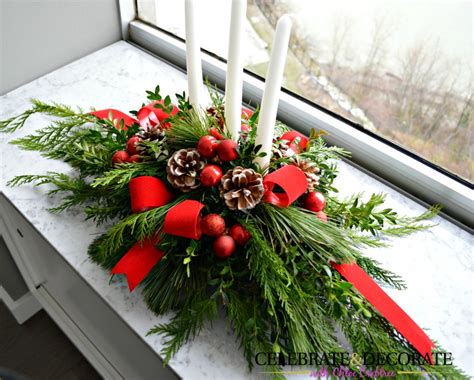 diy evergreen christmas centerpiece celebrate decorate