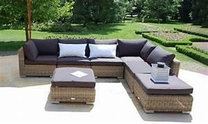 Canapé D Angle Jardin : mobilier de jardin haut de gamme canap d 39 angle modulable en rotin ~ Teatrodelosmanantiales.com Idées de Décoration