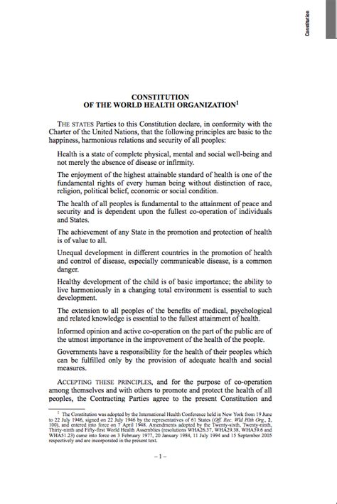 Constitution of the World Health Organization | WHO ...