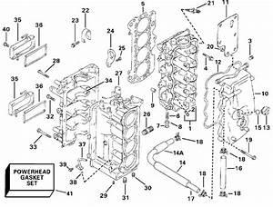 Evinrude Cylinder  U0026 Crankcase Parts For 2000 70hp E70
