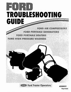 Ford Troubleshooting Guide For Compressors  Generators