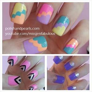 Easy nail art for beginners polish and pearls by jenny claire fox