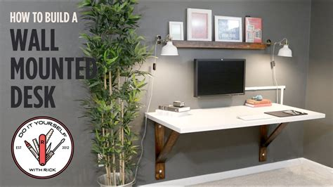 how to make a wall mounted desk build a wall mounted desk youtube