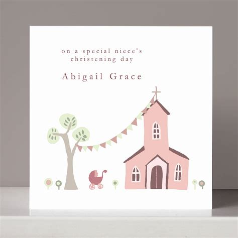 personalised christening card  girl  boy  molly moo