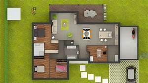 Plan Maison 4 Chambres Avec Suite Parentale : plan maison plain pied 4 chambres avec suite parentale plans con plan maison plain pied 4 ~ Melissatoandfro.com Idées de Décoration
