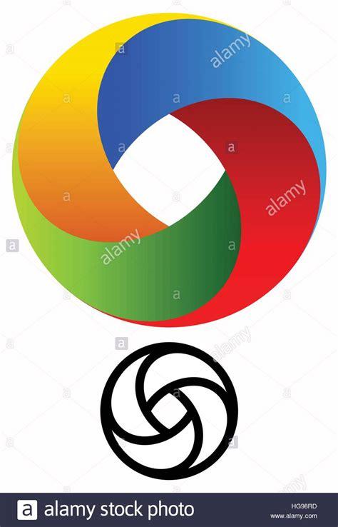 Orange Logo Dots Spiral