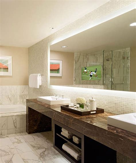 Lighted Bathroom Mirrors by Silhouette Is A Lighted Mirror With A Led Hdtv